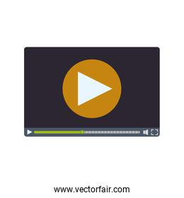play movie film technology communication icon. Vector graphic