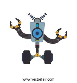 robot cartoon technology android icon. Vector graphic