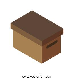 box package delivery shipping logistic security icon. Vector gra