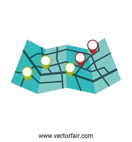 map delivery shipping logistic security icon. Vector graphic