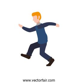 Man running male avatar person people icon. Vector graphic