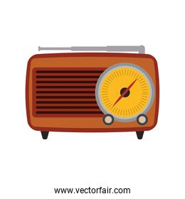 radio retro vintage music icon. Vector graphic