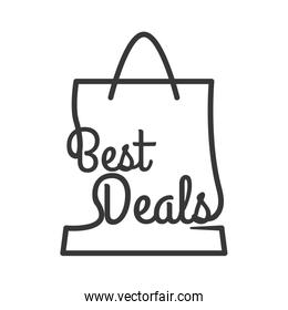 best deal shopping bag commerce business icon. Vector graphic