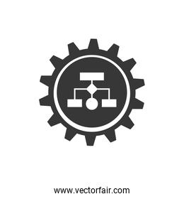 infographic conceptual map data information icon. Vector graphic