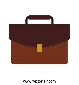 suitcase brown bag office icon. Vector graphic