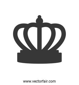 crown royalty king queen icon. Vector graphic