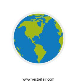 planet world earth sphere icon. Vector graphic