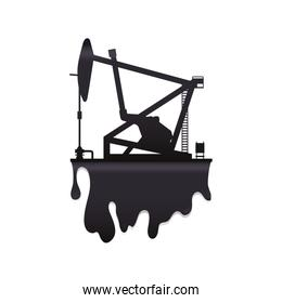 oil pump petroleum oil industry icon. Vector graphic