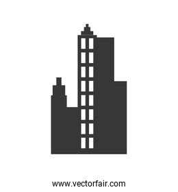 city silhouette urban building towers icon. Vector graphic
