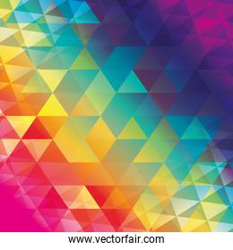 polygonal wallpaper geometric shape icon. Vector graphic