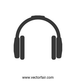 headphone music sound melody icon. Vector graphic