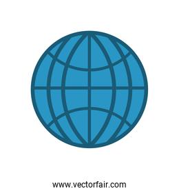 sphere global communication internet icon. Vector graphic