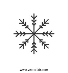 snowflake winter merry christmas icon. Vector graphic