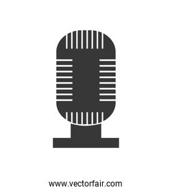 microphone music sound melody icon. Vector graphic