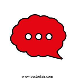 bubble communication message speak icon. Vector graphic