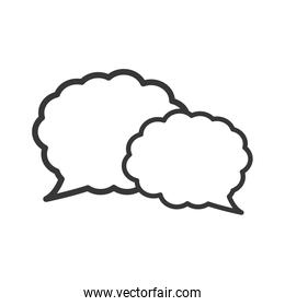 bubble communication message icon. Vector graphic
