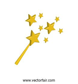 stars gold magic surprise icon. Vector graphic