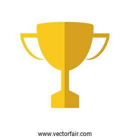 trophy winner competition sport icon. Vector graphic
