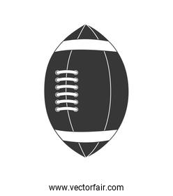 american football ball sport game icon. Vector graphic