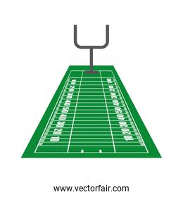american football league sport game icon. Vector graphic