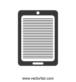 tablet gadget technology icon. Vector graphic