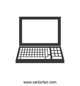 laptop gadget technology icon. Vector graphic