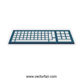 keyboard gadget technology icon.Vector graphic