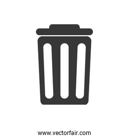 trash recycle ecology save icon. Vector graphic