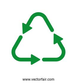 recycle arrow ecology icon. Vector graphic