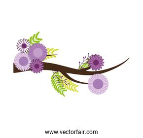 flower leaf nature plant green icon. Vector graphic