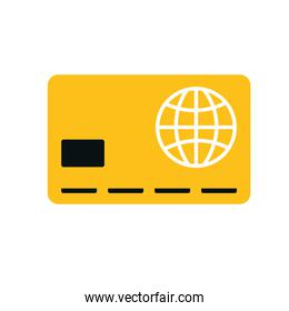 credit card money financial item. Vector graphic