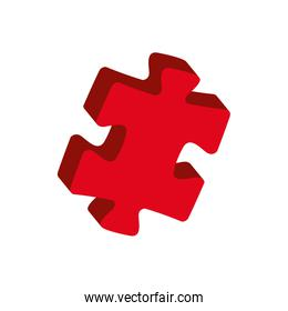 puzzle jigsaw game figure icon. Vector graphic