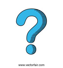 question mark ask icon. Vector graphic