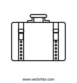 suitcase baggage luggage travel icon. Vector graphic