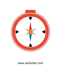 compass navigational instrument direction icon. Vector graphic