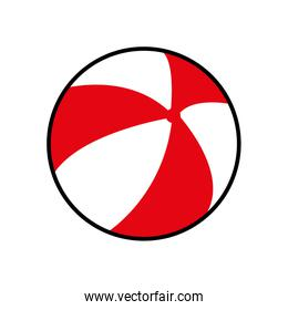 ball striped summer vacation pool icon. Vector graphic