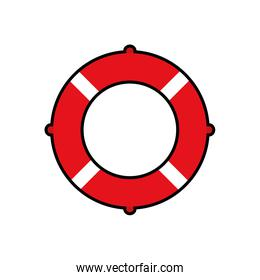 float striped summer vacation pool icon. Vector graphic