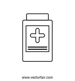 medicine jar medical health care icon. Vector graphic