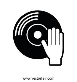 vinyl music sound dj icon. Vector graphic