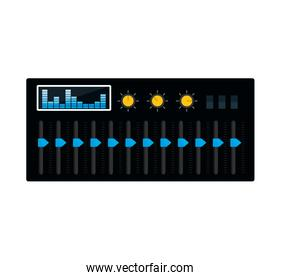 equalizer music sound dj icon. Vector graphic