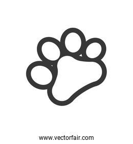 foot print love pet animal icon. Vector graphic