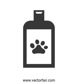 foot print shampoo love pet animal icon. Vector graphic