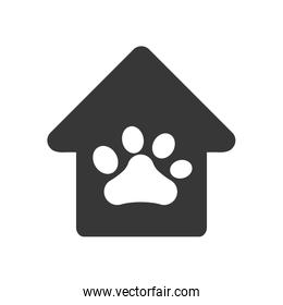 foot print house love pet animal icon. Vector graphic