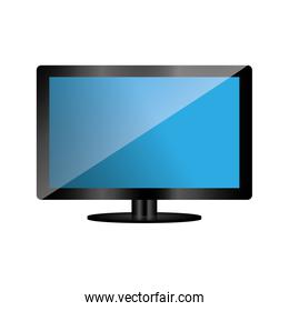 tv television gadget technology icon. Vector graphic