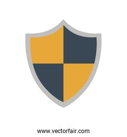 shield security system protection icon. Vector graphic