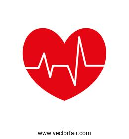 heart pulse cardiology icon. Vector graphic