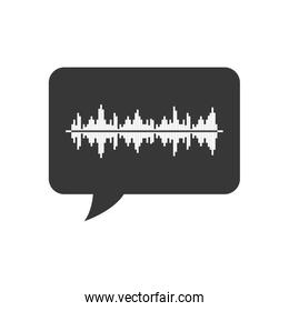 equalizer bubble music sound melody icon. Vector graphic