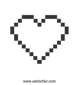 heart pixel love romatic icon. Vector graphic