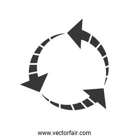 arrow direction infographic icon. Vector graphic