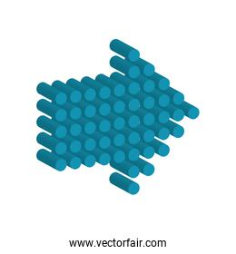 arrow blue direction infographic icon. Vector graphic